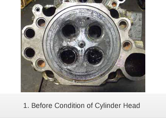 Before Condition of Cylinder Head
