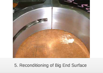 Laser cladding reconditioning of Big End Surface