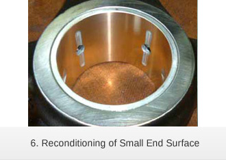 Laser cladding reconditioning of Small End Surface