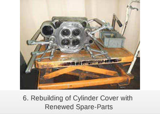Rebuilding of Cylinder Cover with Renewed Spare-Parts