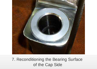 Laser cladding reconditioning the Bearing Surface of the Cap Side