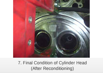 Final Condition of Cylinder Head (After Reconditioning)