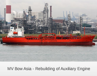 MV Bow Asia - Rebuilding of Auxiliary Engine