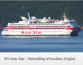 MV Asia Star - Rebuilding of Auxiliary Engine